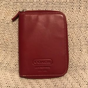 Coach Red Leather Tech Case